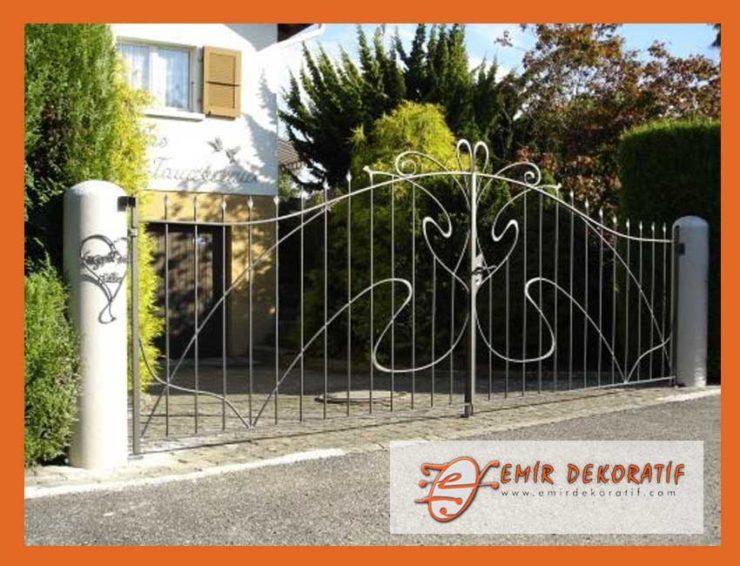 Ferforje tasarım bahçe kapıları