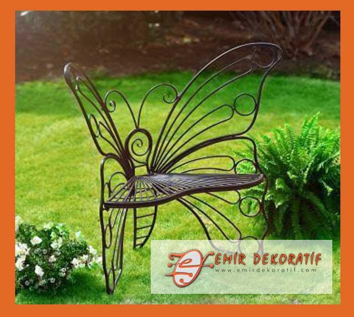 ferforje kelebek sandalye