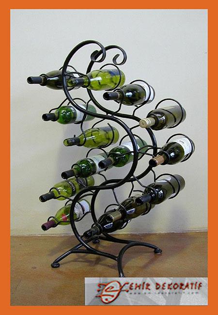 Ferforje çoklu şaraplık