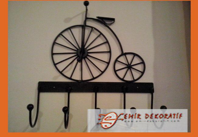 Ferforje bisiklet askılık