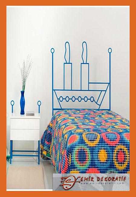 Ferforje genç odası yatak modeli