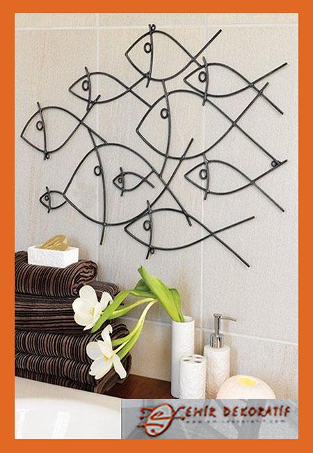 Ferforje Balık model ev dekoru