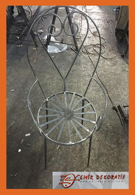 Ferforje sandalye yapımı