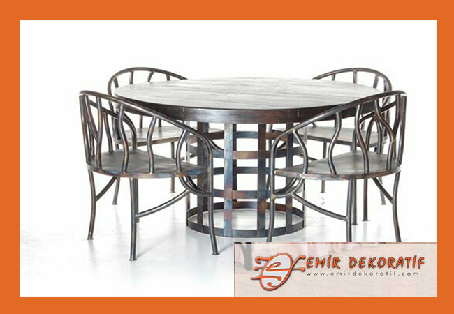 Ferforje masa sandalye modelleri-4