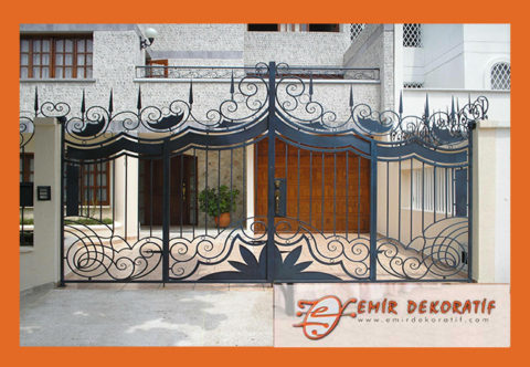 Ferforje kapı modelleri-7