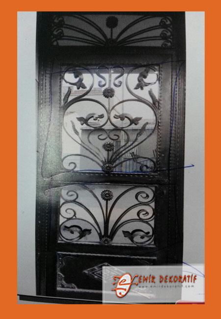Demir apartman giriş kapısı 73